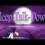 Sleep Talk-Down | Subliminal Affirmations | Deep Healing Music | Stress Relief | Delta Sleep