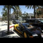 vehicles on rodeo drive beverly hills los angeles california united states